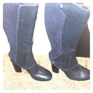 "Tory Burch ""Waterbury"" sleek two-in one boots."